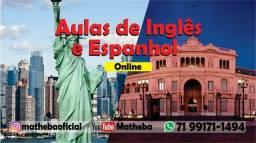 Aulas de conversação em inglês e espanhol online