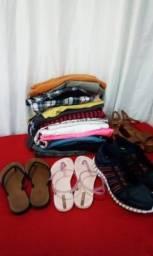 sacola com roupas 30 pçs