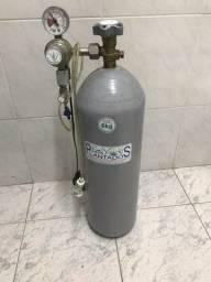 Aquário, cilindro de CO2 6kg