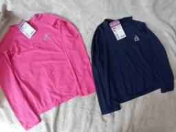 Blusa UV feminina e masculina e infantil