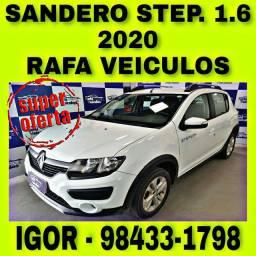 RENAULT SANDERO STEPWAY 1.6 FLEX 2020 NA RAFA VEICULOS FALAR COM IGOR jjyt