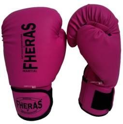Luva Muay Thai Luva Boxe Fheras Tradiconal Feminina Rosa Promoção Somos Loja