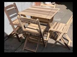 (AL) conjunto de mesa e cadeira Dobraveis