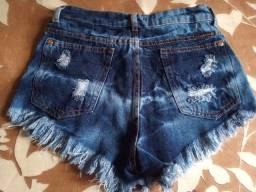 Short jeans novo tamanho 38 cintura alta