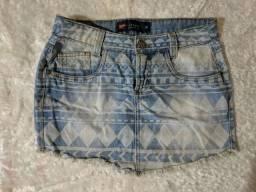 Saia e short jeans R$25 cada