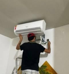 Limpeza de centrais de ar, manutenção, Reposição de gás