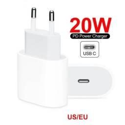Fonte Carregador Compativel iPhone 11 12 Tipo C 20w Turbo