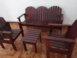 Jogo de mesa com cadeiras  barbada