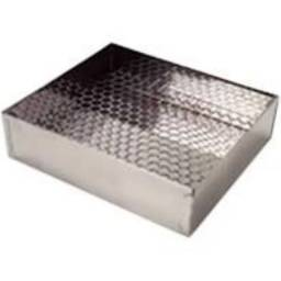 Escorredor Pastel Batata Inox 40 X 50 Cm
