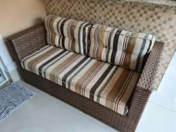 Vendo Sofá e Mesa de Junco