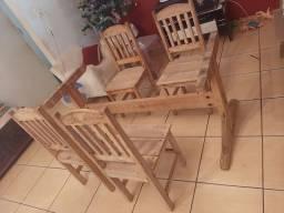 Base pra Mesa com 4 Cadeiras Usada Entrego