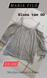 1 Blusa marca MARIA FILÓ original Tam GG usada