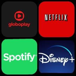 Netflix GloboPlay Disney e Spotify