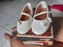 Sapato infantil Branco N° 22