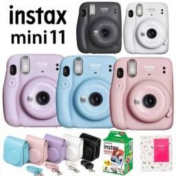 Kit Câmera Instantânea Instax Mini 11 + Case + 10 Filme (Azul)
