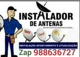 Técnico de Antenas Sky,Oi,Claró e etc...