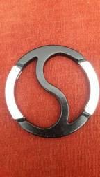 Chaveiro ying-yang aço inoxidável