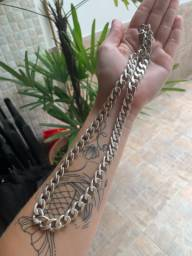 Cordão corrente de prata 950