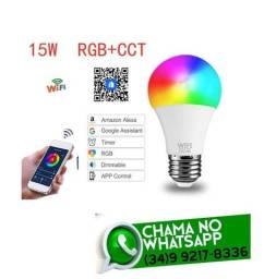 Lâmpada Led Wi-Fi RGB Colorida 15w * Conecta com Alexa