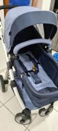 Carrinho de bebê + bebê conforto Dzieco Maly azul