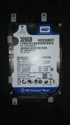 HD Western Digital Sata 320gb ( 2.5 ) Notebook