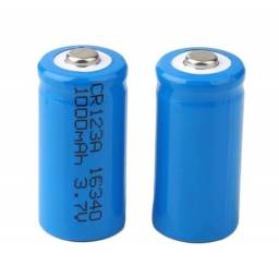 Bateria Pilha Cr123a Recarregável 1000mah 3v C/2 Unid - Nova!