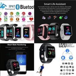 Smartwatch Relógio D20 Fit Pro Batimento Cardíaco original Chamadas