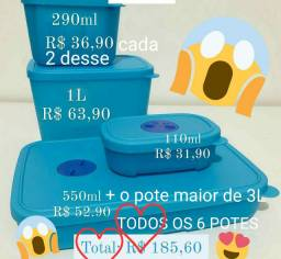 Tupperware Freezertime - 6 potes - À VISTA $185,60