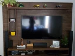 Painel Âmbar para TV até 60 Polegadas Madeira Rústica