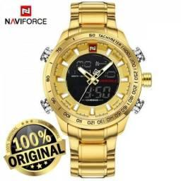 cf832e70e7a Relógio Masculino Naviforce 9093 Digital e Analógico Original Promoção  Liquidação Só R 130
