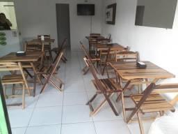 5 Jogo de cadeira com 4 cadeira cada p loja de acai
