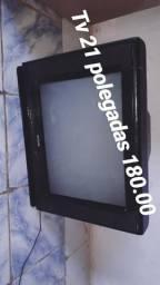 Televisão de tubo 21 polegadas e conversor digital novo