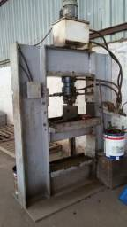 Prensa hidraulica de pinos 80 ton - automatica
