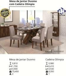 Mesa De Jantar Duomo 6 cadeiras - A Pronta Entrega