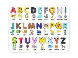 Alfabeto e Números Ilustrado - Brinquedo Educativo Pedagógico Montessori