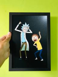 Quadro decorativo Rick and Morty geek