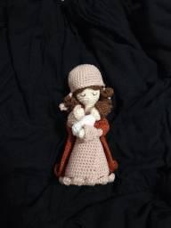 Virgem Maria em Amigurumi
