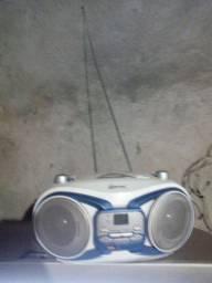 Som rádio AM FM toca CD com pen drive