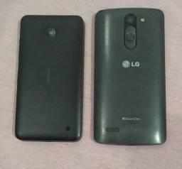 smartphone L prime e Nokia Lumia para retirada de peças