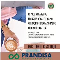 7469 Repasse de franquia de cafeteria no Aeroporto Intl de Florianópolis - FLN