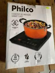 Cooktop de Indução 1 Boca Preto Smart Chef Philco 220V (novo)