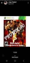 Promoção em jogos resident evil  Xbox 360mídia digital