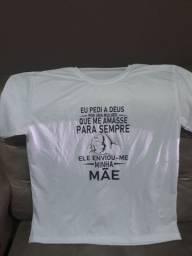 Camiseta com mensagem