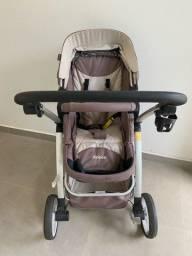 Carrinho Dzieco Maly com kit bebê conforto mais base  Impecáveis