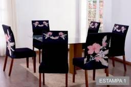 Kit 6 capas de cadeira estampadas