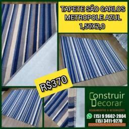 Tapete São Carlos Metropole Azul 1,50x2,00 ? Novo