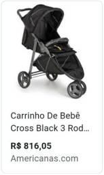 Carrinho Galzerano Croos Black 3 Rodas