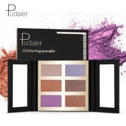 Marcador fosco com brilho de 6 cores para clarear o tom da pele
