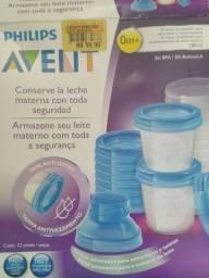 Copos para armazenar leite materno