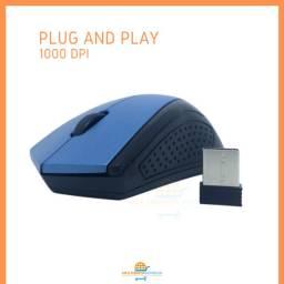 Mouse Óptico Wirelles Sem Fio Inova Compacto USB 3.0